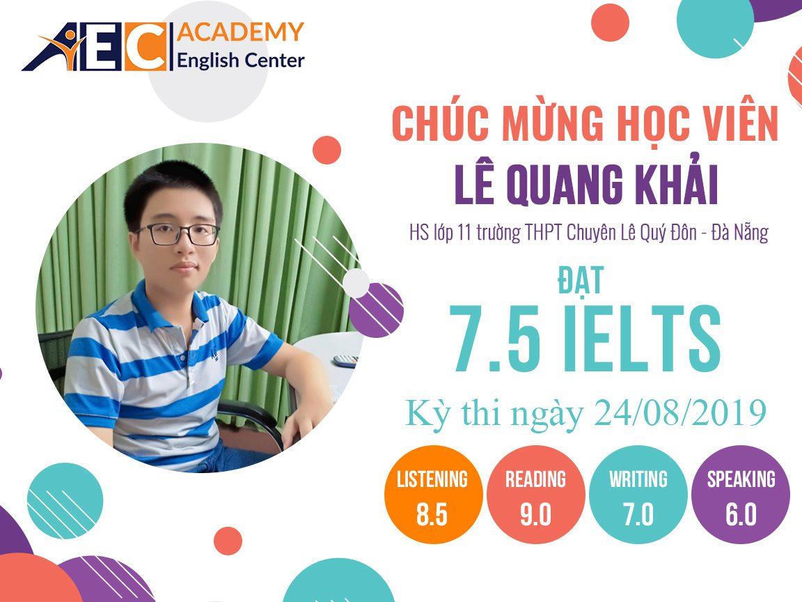 Vinh danh IE Le Quang Khai